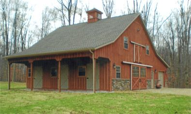 Cute little barn for the home pinterest for Metal buildings with apartments