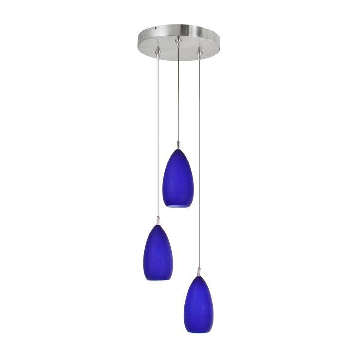 Cobalt Blue Hanging Pendant Light