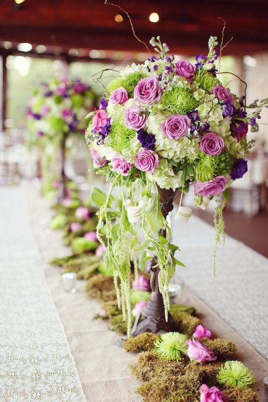 Purple And Green Wedding Decor Beautiful Bouquets Pinterest