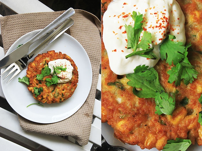 Spicy Corn Fritters   Dinner is Served   Pinterest