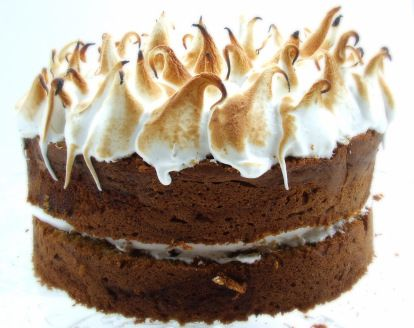 Sweet Potato Cake with Toasted Marshmallow Frosting