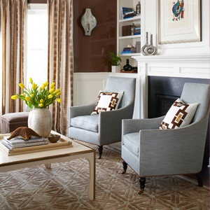 Blue And Brown Living Room House BE U Tiful Pinterest