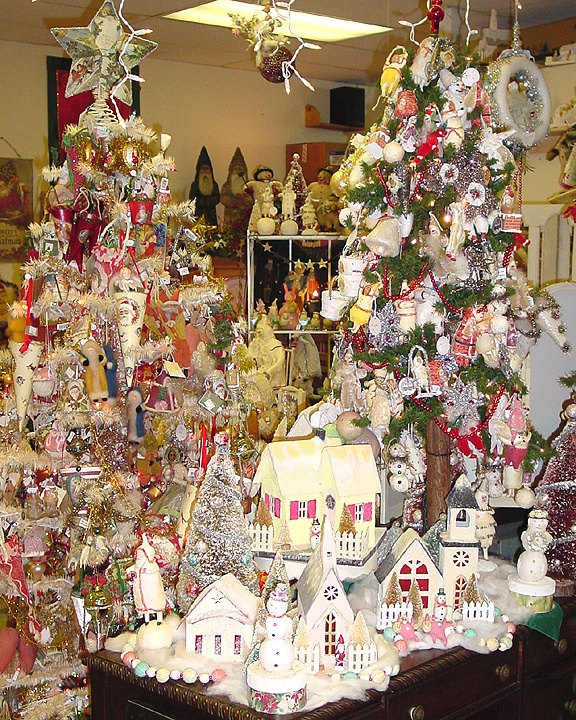 ways to display christmas village