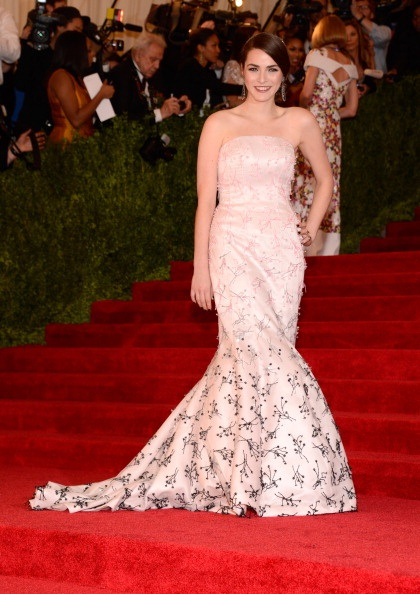 Bee Shaffer in light pink Dior at the Met Gala 2013