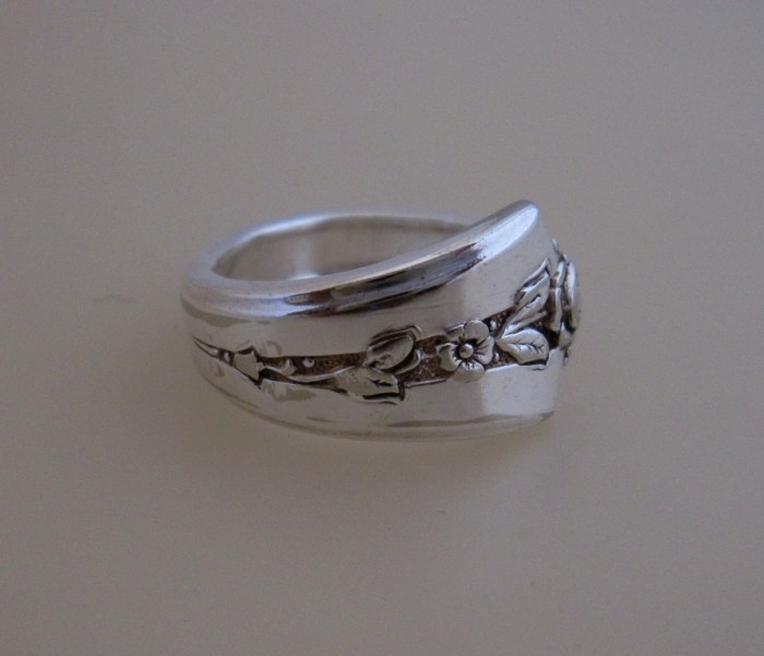 silver rings made from spoons silver rings