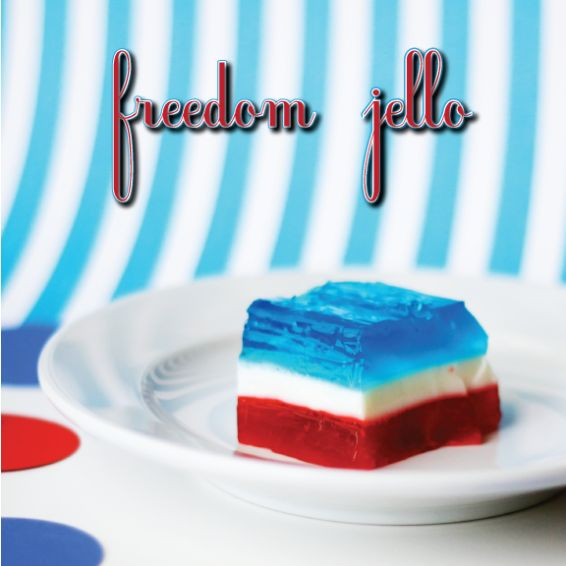 4th july layered jello shots