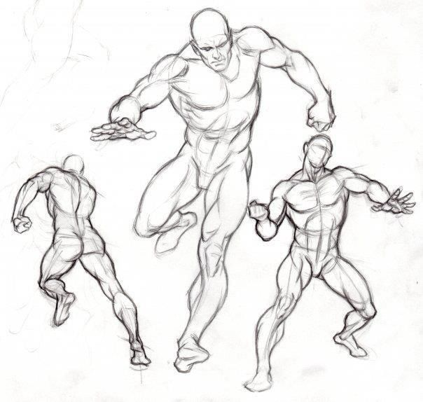 Human body in motion sketches for Body movement drawing