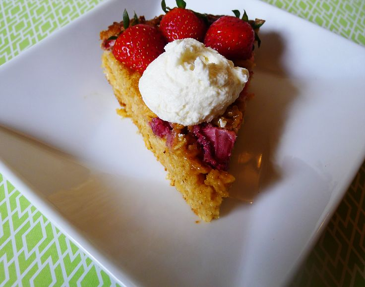 Strawberry Goat Cheese Oat Pie with Whipped Goat Cheese | Recipe