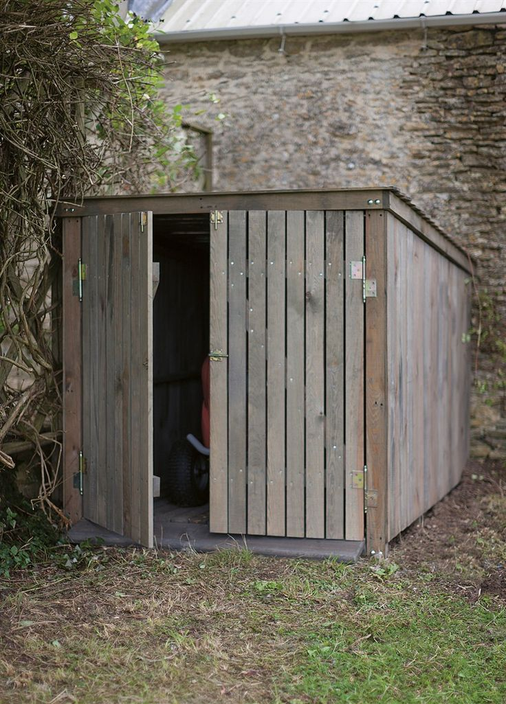 Mower bicycle shed tools garage pinterest for Garden shed for lawn mower