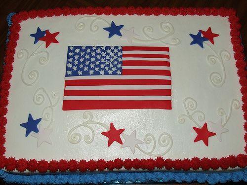 4th of july sheet cake