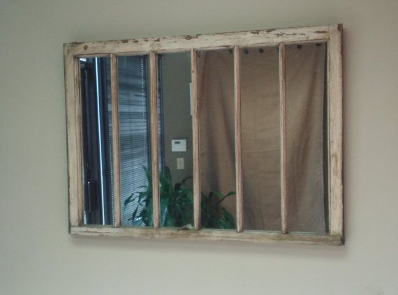 Unique Window Pane Mirror (great for over a fireplace!)