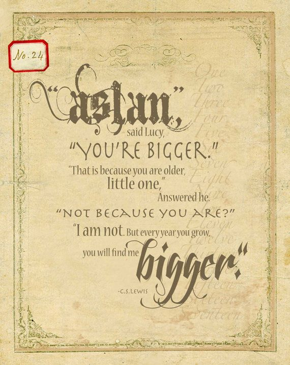 Quotes About Aslan Narnia. QuotesGram