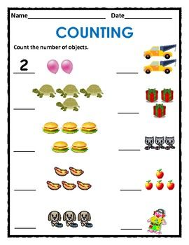 Counting worksheets 1 10