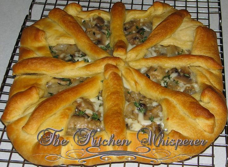 ... Kitchen Whisperer Savory Caramelized Onion, Mushroom and Thyme Tart