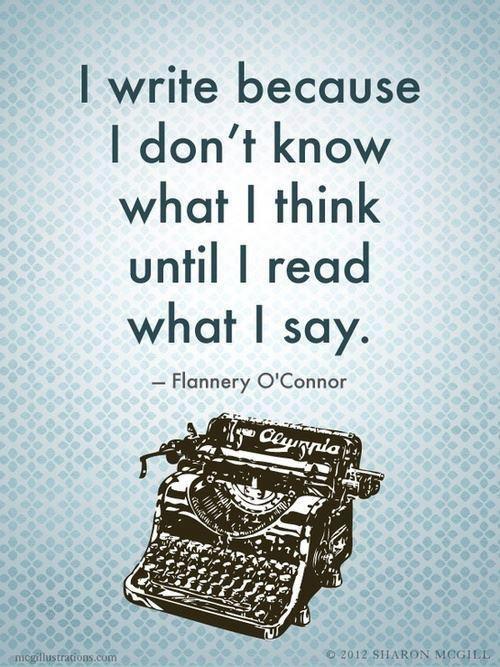 I write.