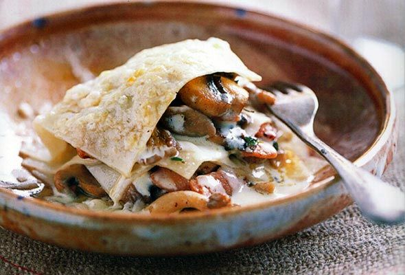 Open Lasagna of Mushrooms, Pine Nuts, and Thyme