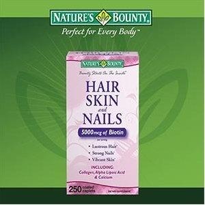 Nature s bounty hair skin and nails 5000 mcg of biotin per serving