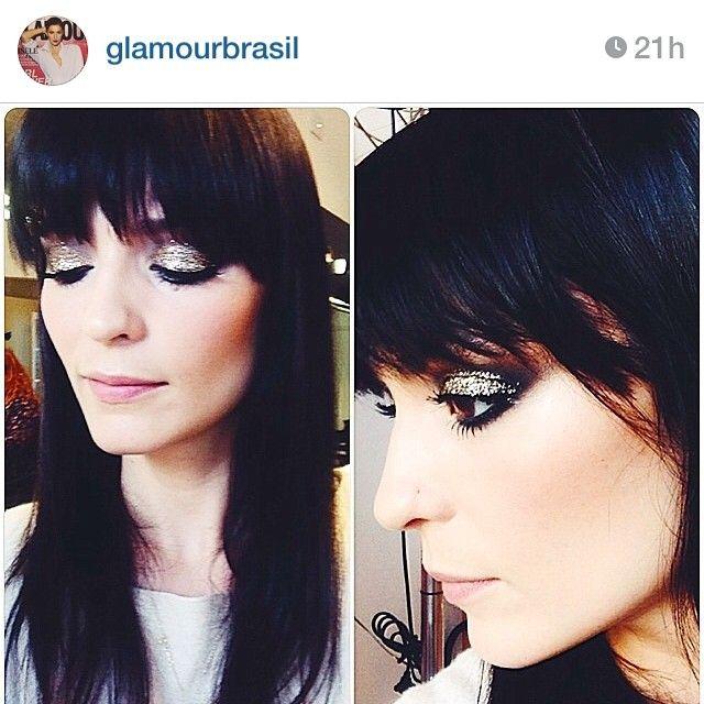 Vanessa Rozan's glitter makeup
