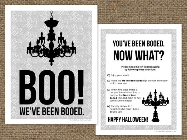 """Boo"" your neighbors with this free printable from TomKat Studio"