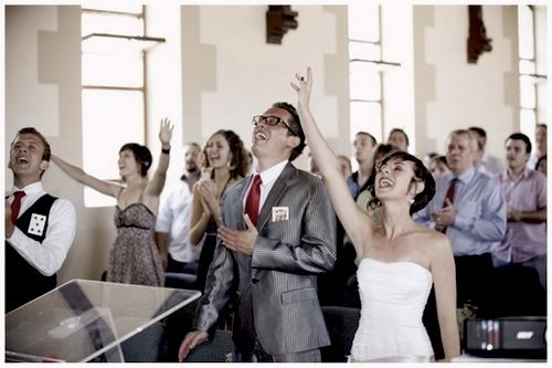 Worship at a wedding. I'm doing this. The girl I marry has to be okay with this.