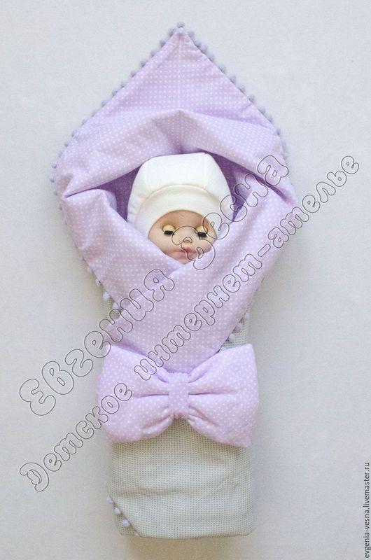Пэчворк конверт для новорожденных
