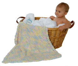 Sweet Baby Mini Blanket Pattern - Mary Maxim