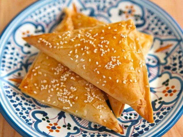 Cheese Bourekas with Filo Dough. You can freeze it in advance or make ...