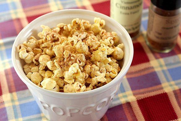 Sugar and Spice Popcorn - Cinnamon, Sugar and Nutmeg add an extra ...