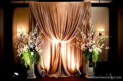 Professional Wedding Backdrop Kit W Pipe Drape And Valence 1 PANEL
