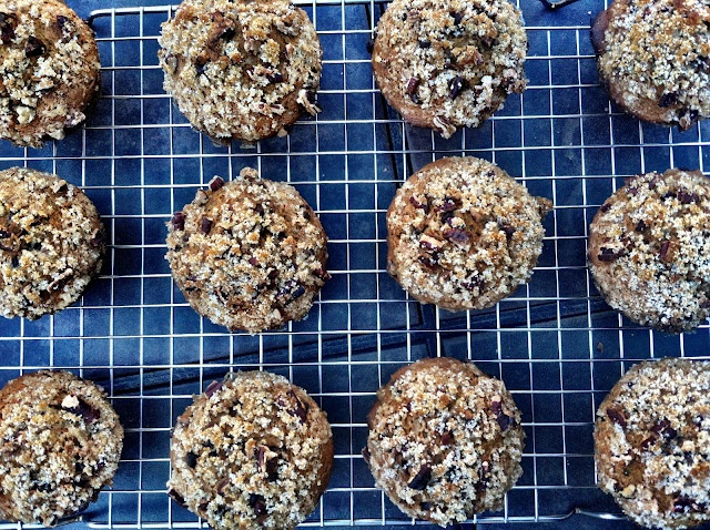 ... Fat Chocolate Chip Pumpkin Muffins with Toasted Pecan Streusel Topping