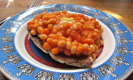 ... baked beans - English style beans on toast. Haricot beans = navy beans