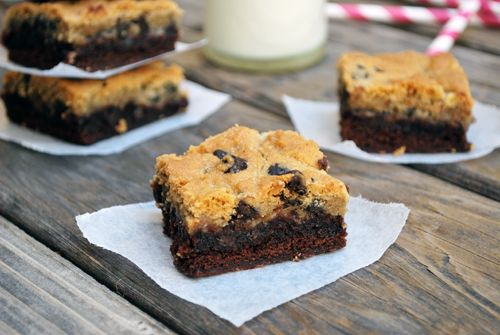 Chocolate-Chip Cookie Topped Brownies & A Giveaway! | | Family ...