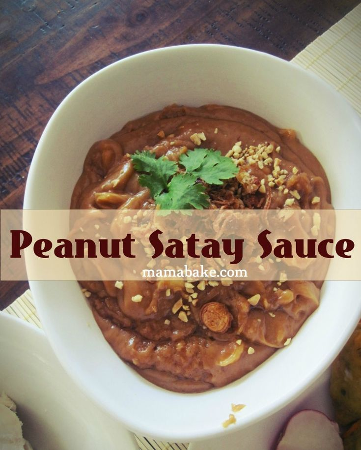 Satay Sauce (take out fish sauce...replacement ideas?)