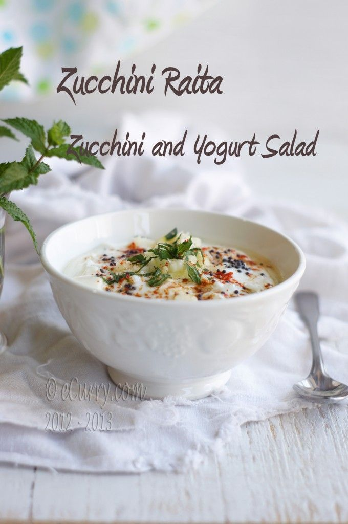 Zucchini and Yogurt Salad | Eat Your Veggies! | Pinterest