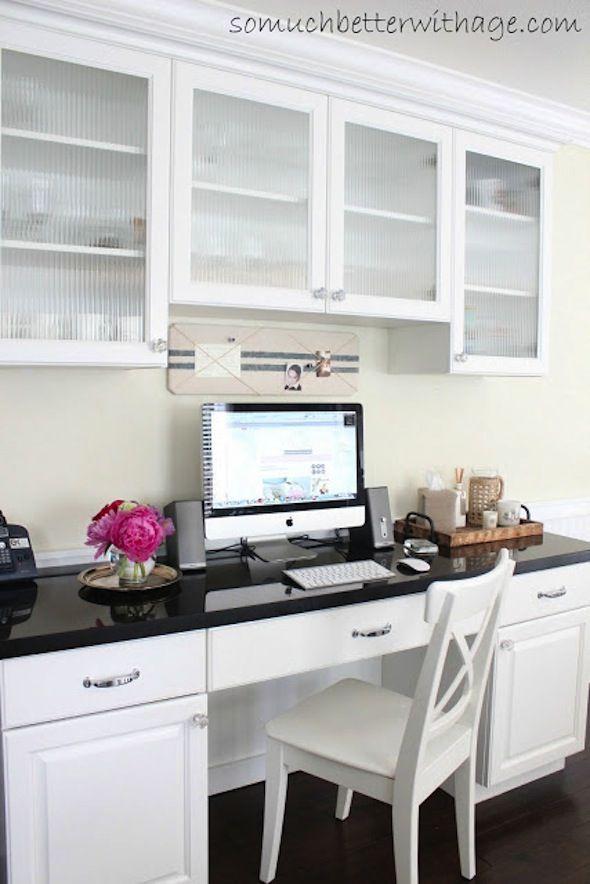 Kitchen desk nook general design ideas pinterest for Kitchen office nook