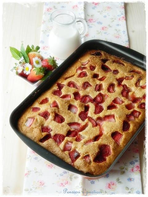 buttermilk cake and strawberries | Just Desserts | Pinterest