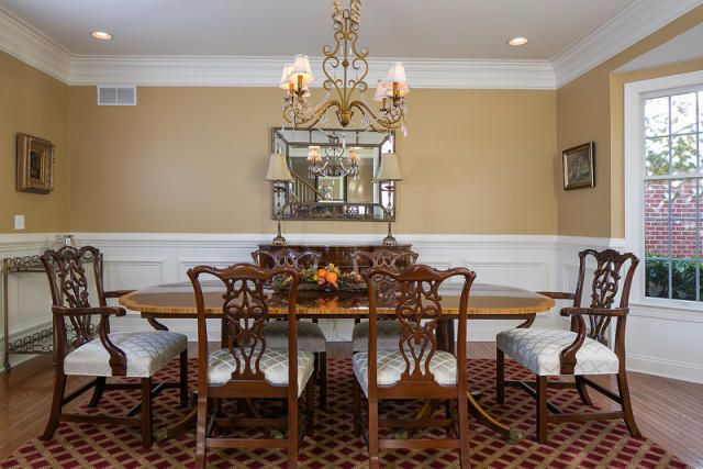 Dining room molding and wainscoting wainscoting ideas for Dining room wainscoting ideas