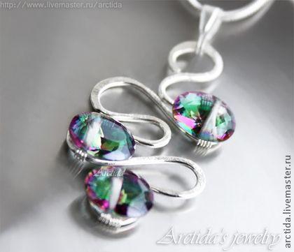 серебро серьги с камнями фото