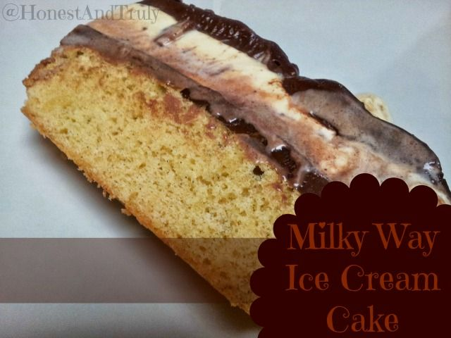 The most amazing yummy Milky Way Ice Cream Cake make with Milky Way ...