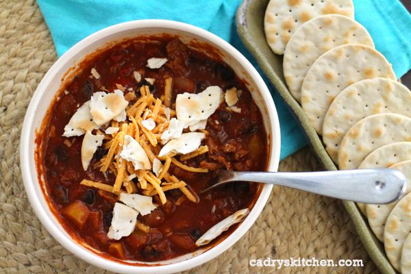 Smoky Soy Curl & Two Bean Chili #vegan | Soups, goulash, and Stews ...
