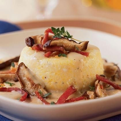 Baked Grits with Country Ham, Wild Mushrooms, Fresh Thyme, and ...