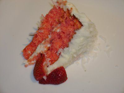 Southern Style Strawberry Cake with Cream Cheese Frosting
