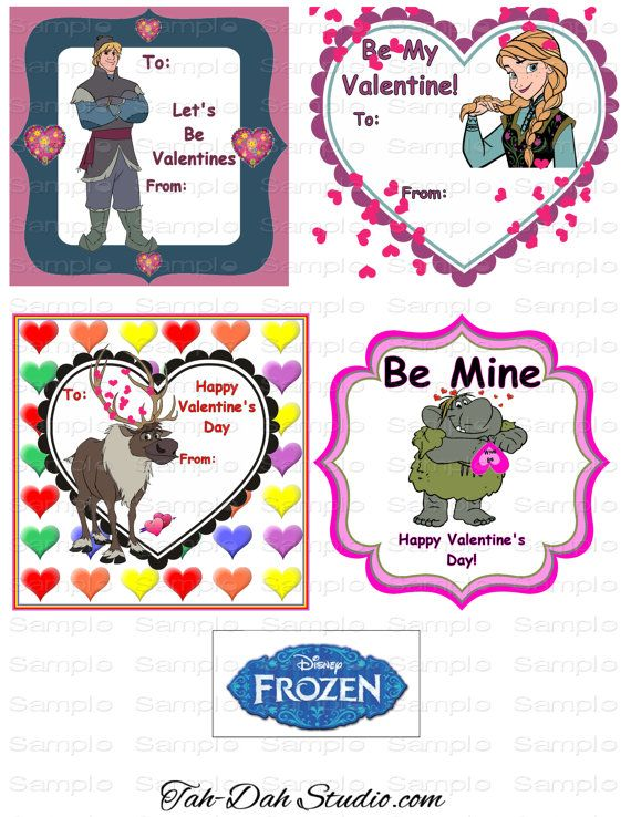 frozen valentine card tumblr