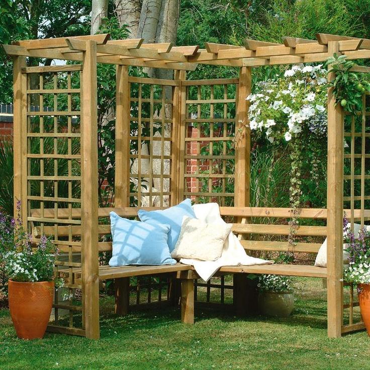 Corner Bench Arbor Primitive Outdoor Furniture To Make Pinterest