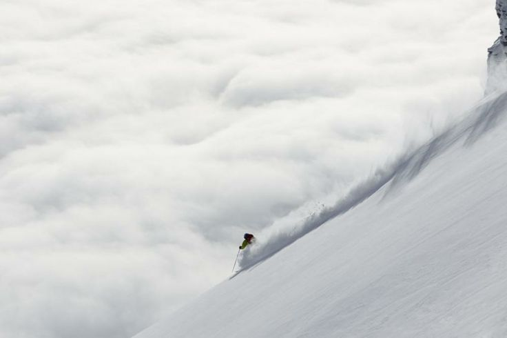Sascha Schmid from the heli in Switzerland while shooting for Flow State.