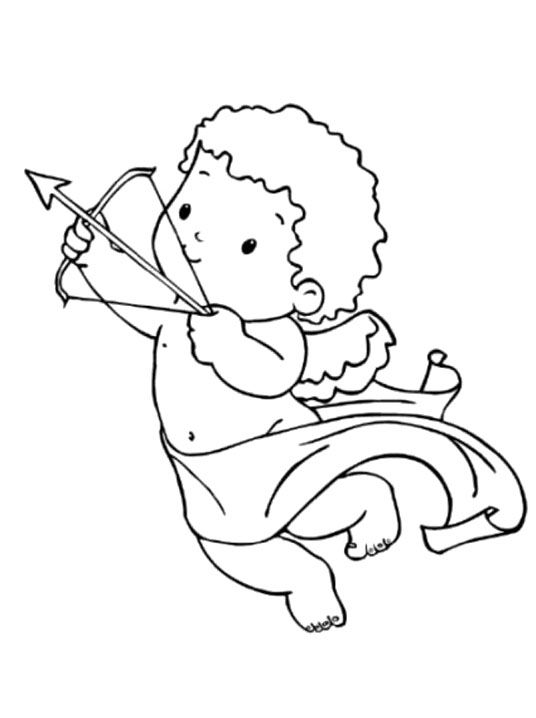 coloring pages cupid - photo#15