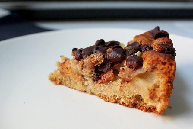Bittersweet Chocolate Pear Cake #cake #recipes