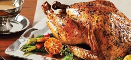 Cinnamon-Orange Salted Roast Turkey With Thyme Gravy Recipe ...