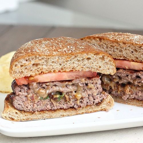 Stuffed Cheddar Bacon Cheeseburgers by Tracey's Culinary Adventures ...