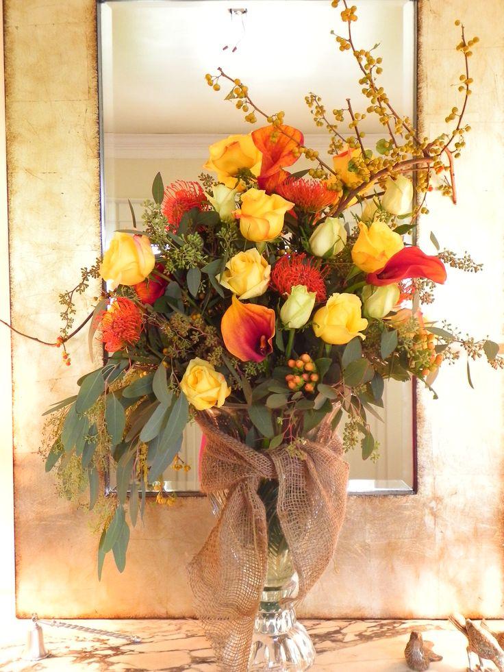 Fall Floral Arrangement Wreaths And Florals Pinterest